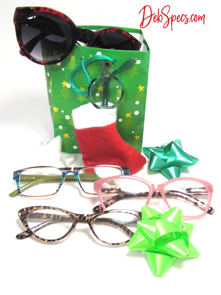 fashionable gifts for under $20 feature womens colorful, trendy reading glasses and bifocal sunglases